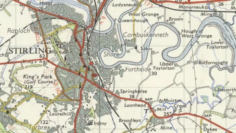 Map of Stirling