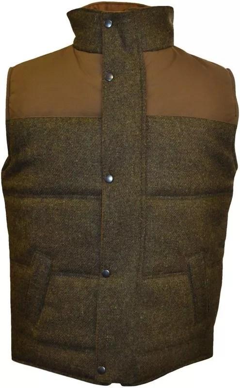 Brown tweed gilet