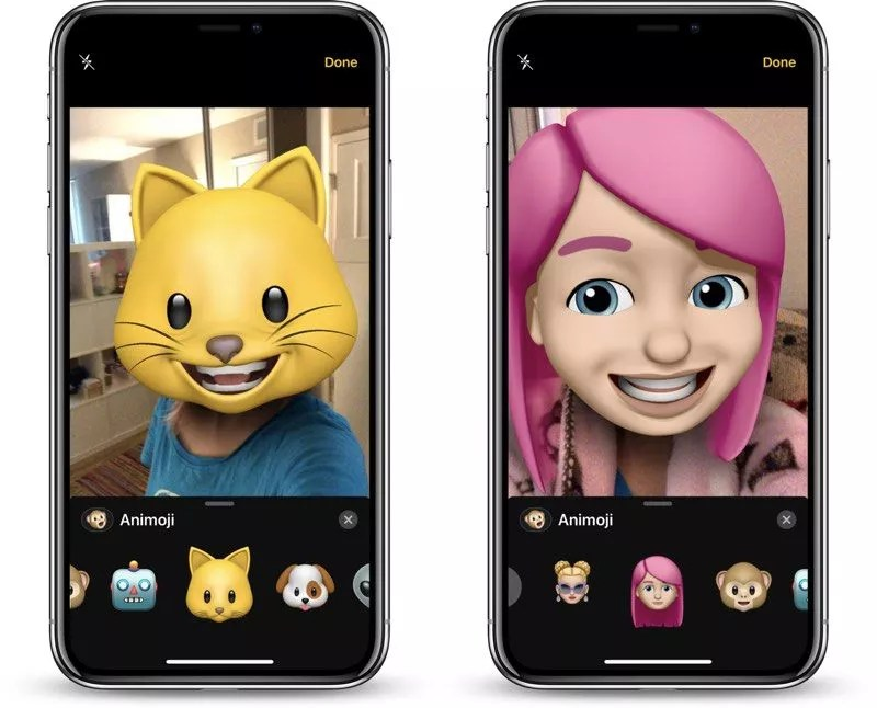memoji, a cat and a girl with pink hair