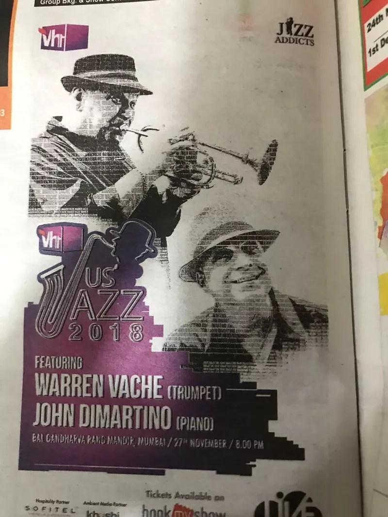 International jazz with the John DI Martino Quartet will be played at the Balgandharva Rang Mandir