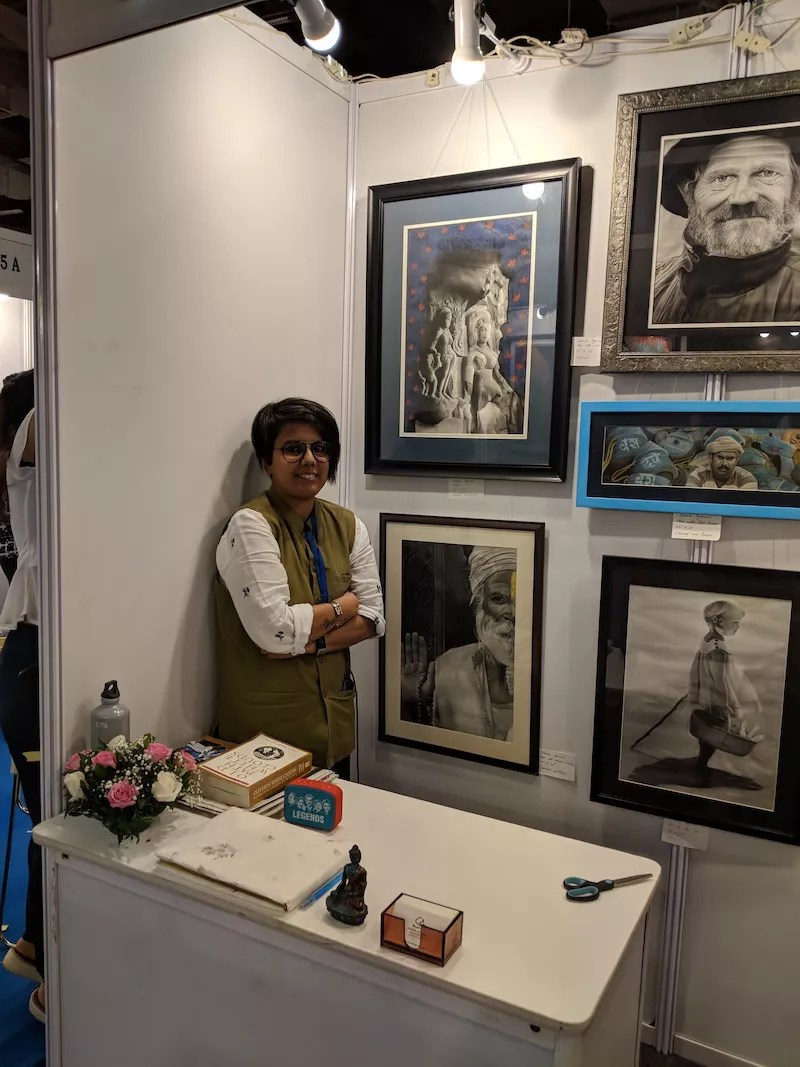 Powai Resident Shweta's exhibit at the India Art Fair