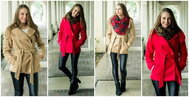Popular Camel and Red Peacoats!