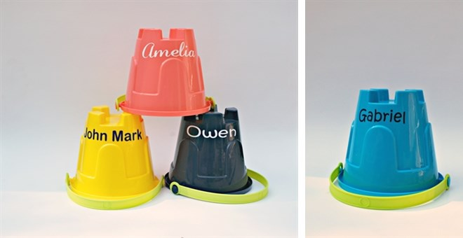 Personalized Sand Castle Molds or Buckets!