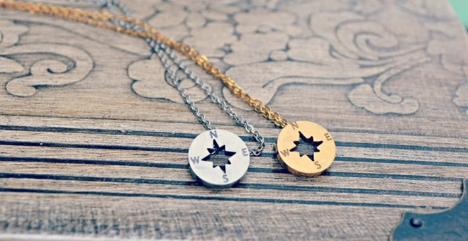 Dainty Compass Necklace-2 Color Options