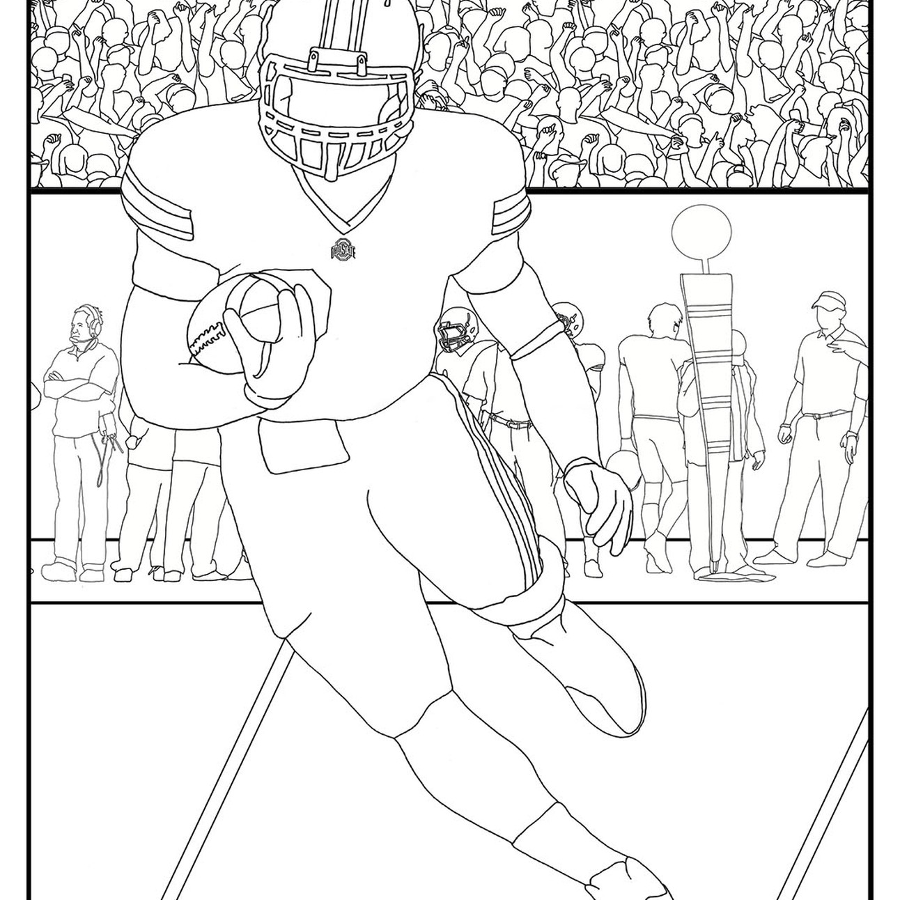 34 Ohio State Buckeyes Coloring Pages