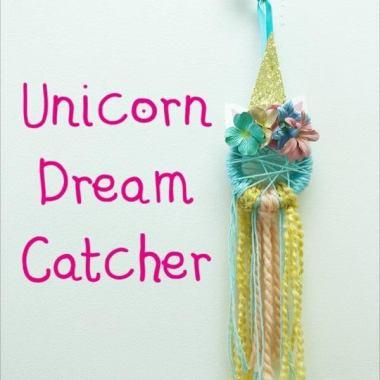 Unicorn dream catcher artfully yours
