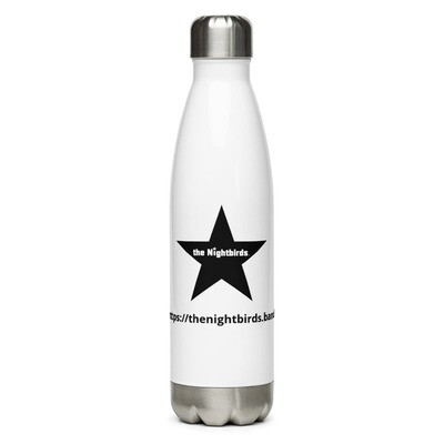 Stainless Steel Water Bottle with The Nightbirds Black Star