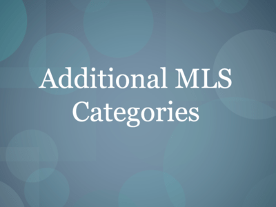Additional MLS Listing Categories