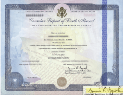Apostille for Birth Abroad Certificate