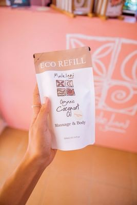 Fresh Papaya and Mango - Eco Refill Pouch 300ml Organic Coconut Oil