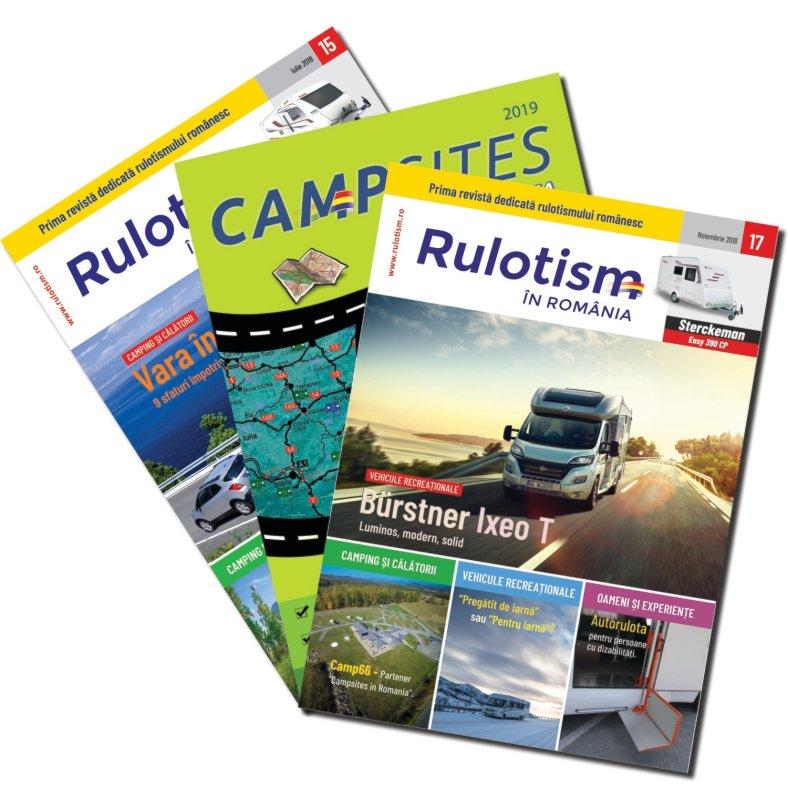 Pachet cu 4 reviste și hartă
