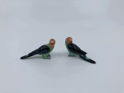 Porcelain Parrot- miniature birds