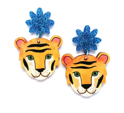 Tiger Earrings by Blossom and Cat