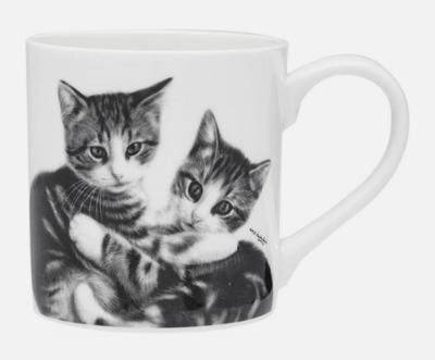 Cuddling Kittens Cat mug by Ashdene
