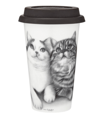 Fixated Friends Cat Travel Mug by Ashdene