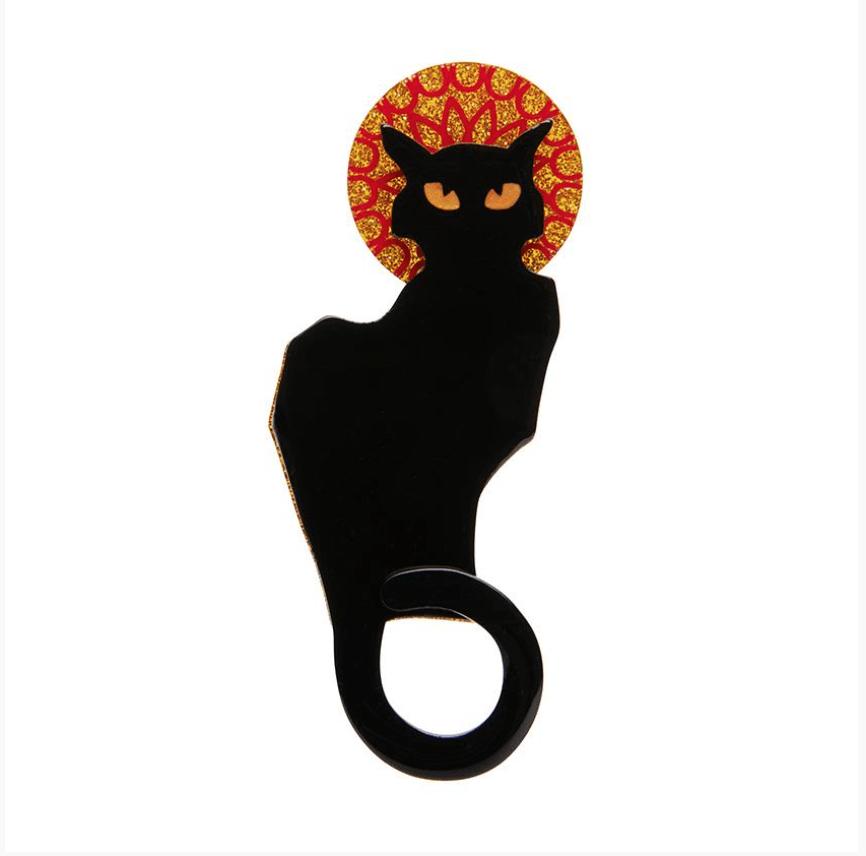 Le Chat Noir Brooch by Erstwilder