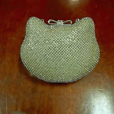 Hello Kitty style diamonte handbag GOLD
