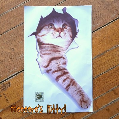 Heeere's Kitty! Decal (F013)