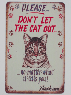 Kitty Sign Me Up - Decorative Metal Signs