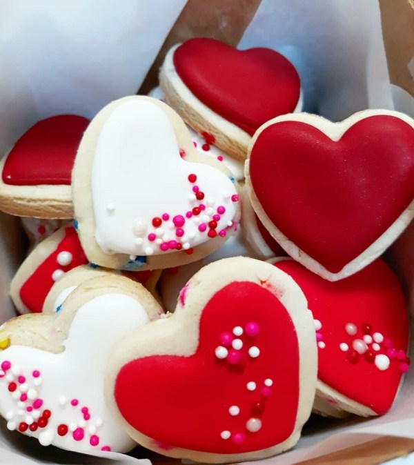 Box of Hearts - Valentine's day cookies