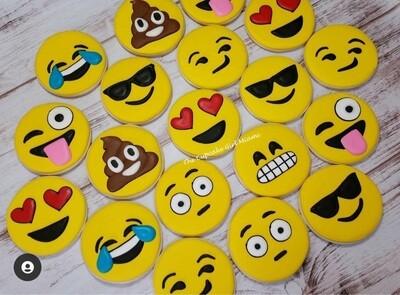 Emoji Decorated Sugar Cookie 1 Dozen