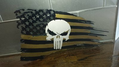 Punisher Tattered Flag