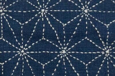 Asanoha Sashiko Stitched Fabric 081501 | Summer Sale Deal!