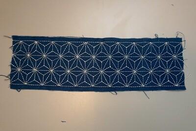 Asanoha Sashiko Stitched Fabric 081503 | Summer Sale Deal!