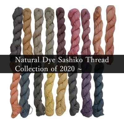 Natural Dye Sashiko Thread 2020 Collection