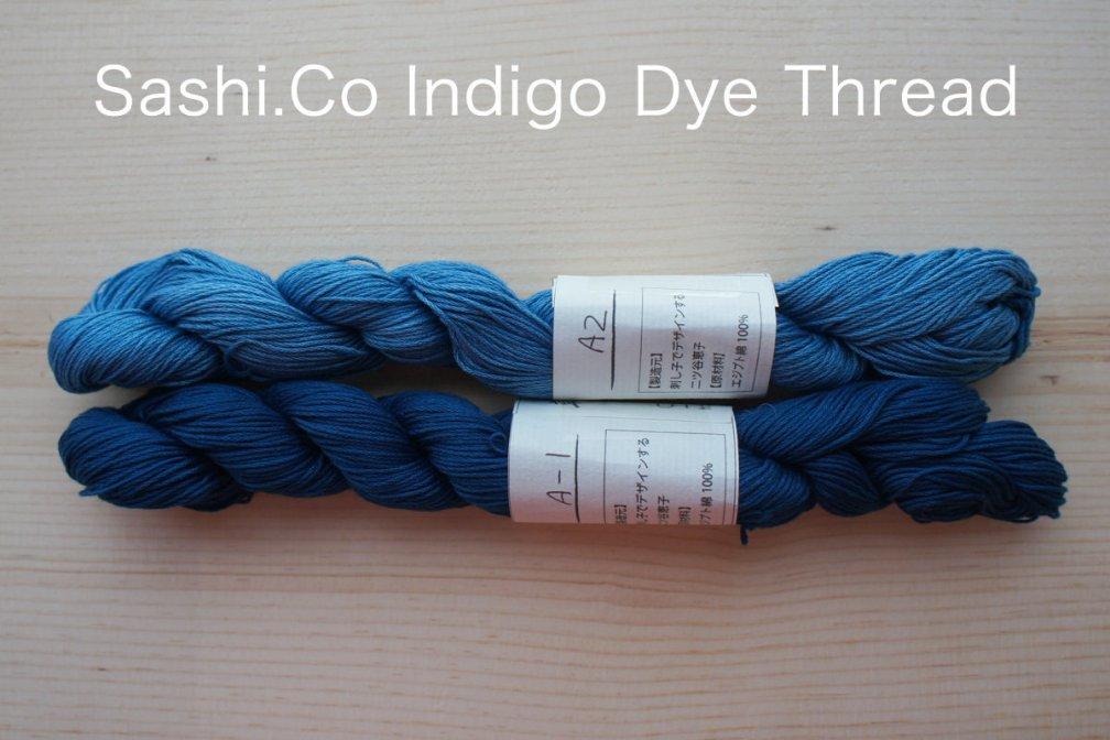 Indigo Dye Sashiko Thread   145 meter skein