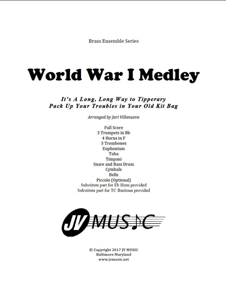 WWI Medley for Brass Ensemble