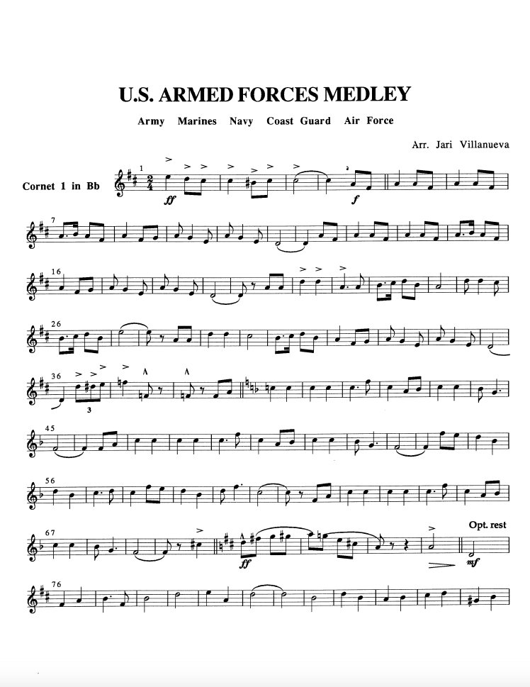 US Armed Forces Medley