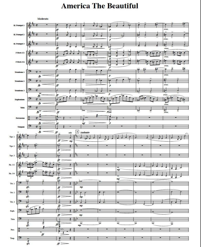 America The Beautiful Brass Ensemble