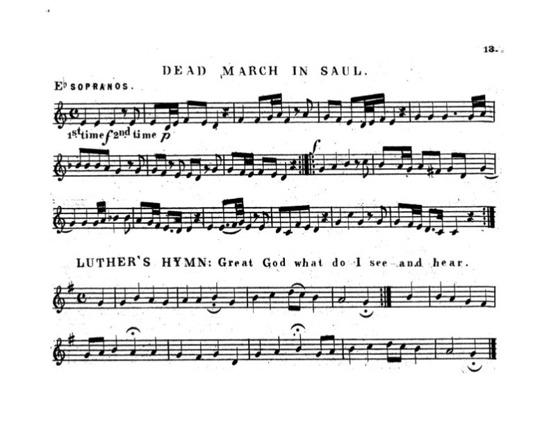 Dead March in Saul and Luther's Hymn Squire's Cornet Band Olio