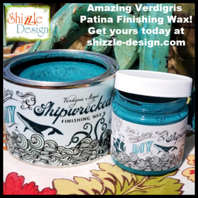 Verdigris Wax by DIY Paint (I have plenty of the 13.5 oz cans.  More 4 oz pots should be here late Oct)