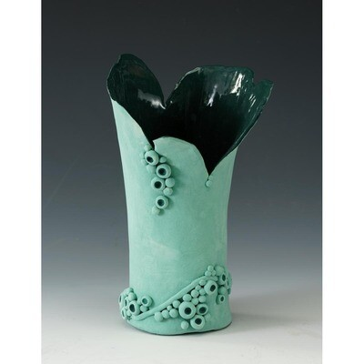 Emerald Fantasy (vase) -- Hilda Bordianu