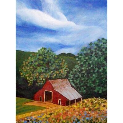 Red Barn in the Summer -- Marne Jensen