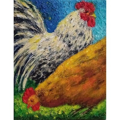 White Rooster -- Leanna Leitzke