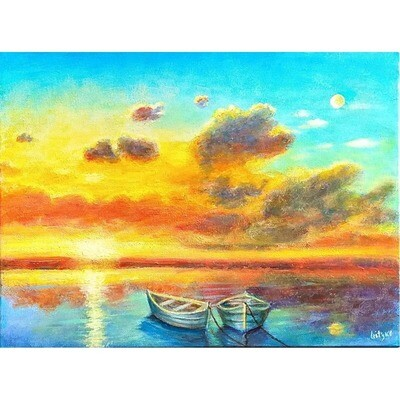 Sunset Boats -- Leanna Leitzke