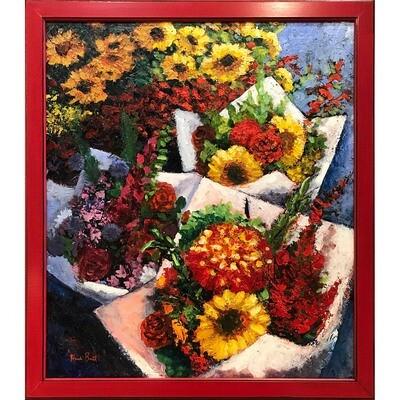 Farmers Market Bouquets -- Heidi Barnett