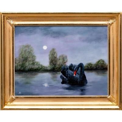 Nocturne with Black Swan -- Hilda Bordianu