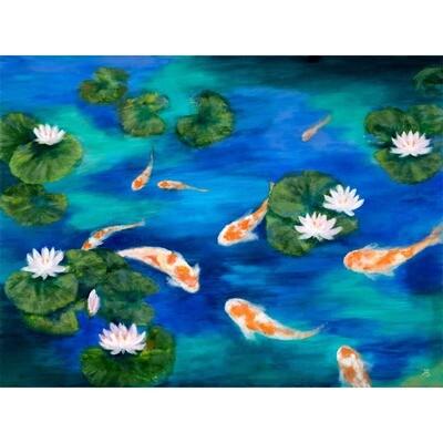 Koi in the Pond III -- Hilda Bordianu