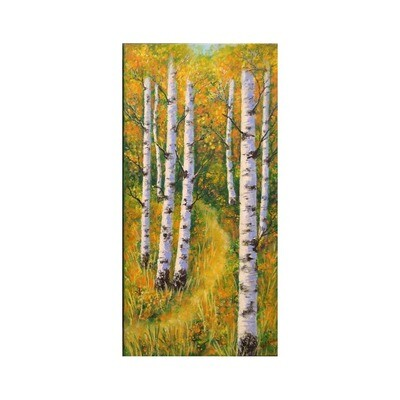 Autumn Birches -III -- Leanna Leitzke
