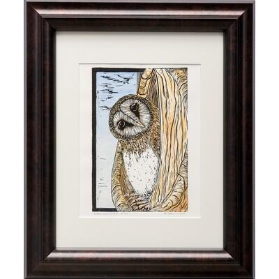 Barn Owl in Fall -- Sylvia Portillo