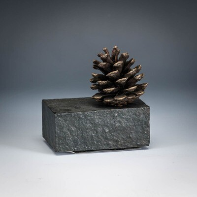 Pinecone on 2.5x4 Base -- Ed Thayer