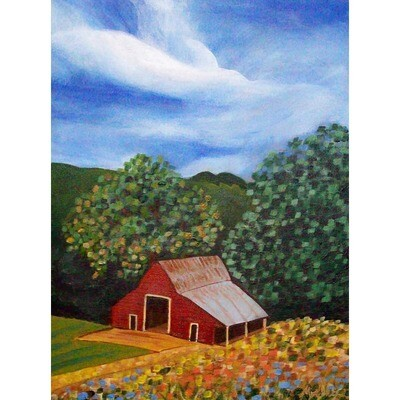 Red Barn in the Summer -- Marne Jensen