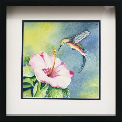 Hibiscus and Hummingbird -- Sandi McGuire