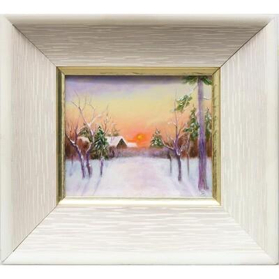 Winter Sunset -- Hilda Bordianu