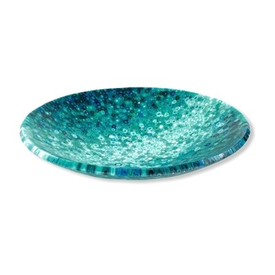 Large Teal Murrini Bowl -- Joel and Lori Soderberg