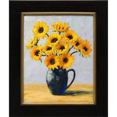 Jug with Twelve Sunflowers -- Corina Linden